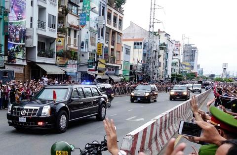 Chi tiet doan xe ho tong Tong thong Obama o Sai Gon hinh anh 6