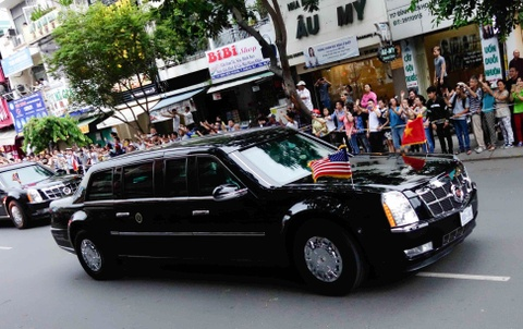 Chi tiet doan xe ho tong Tong thong Obama o Sai Gon hinh anh 7