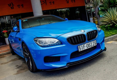 BMW M6 duy nhat o Sai Gon doi mau xanh A-rap hinh anh