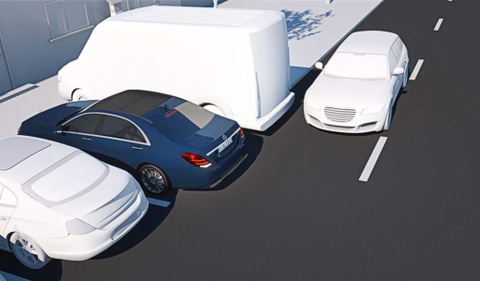 mercedes auto parking hinh anh