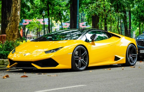 Sieu xe Lamborghini Huracan cua Cuong Do La do gam thap hinh anh