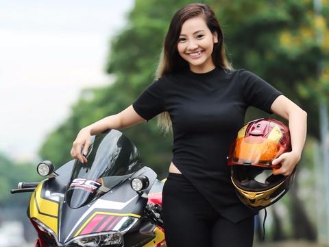 Nu biker 9X Sai Gon dam me Iron Man hinh anh