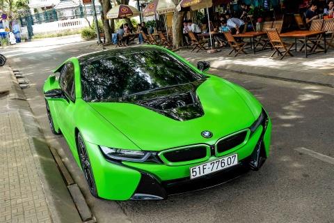 BMW i8 mau xanh xuat hien o Sai Gon hinh anh 1