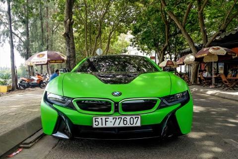 BMW i8 mau xanh xuat hien o Sai Gon hinh anh 2
