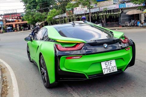 BMW i8 mau xanh xuat hien o Sai Gon hinh anh 8