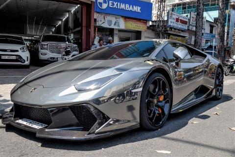 Lamborghini Huracan do body va dan chrome o Sai Gon hinh anh 9