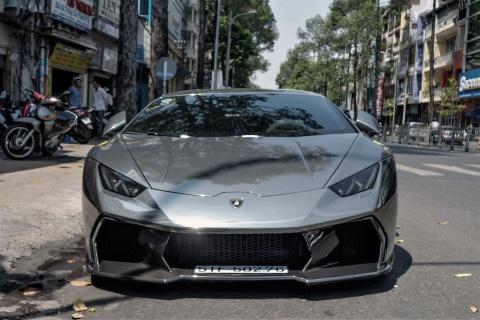 Lamborghini Huracan do body va dan chrome o Sai Gon hinh anh 2