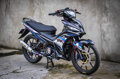 Exciter 135 do phong cach HP4 cua fan BMW o Can Tho hinh anh 13