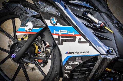 Exciter 135 do phong cach HP4 cua fan BMW o Can Tho hinh anh 2