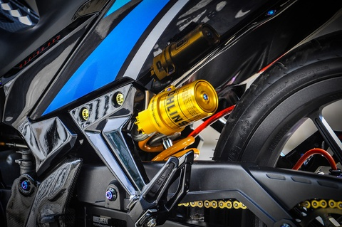 Exciter 135 do phong cach HP4 cua fan BMW o Can Tho hinh anh 9