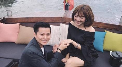 MC Yumi Duong duoc ban trai cau hon sau 3 nam hen ho hinh anh