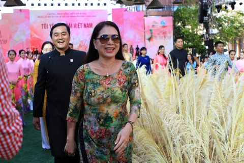 Dan sao Viet cung 3.000 nguoi mac ao dai o pho di bo Nguyen Hue hinh anh 3