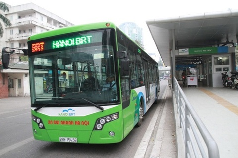 Ha Noi de xuat xe may di vao lan BRT hinh anh