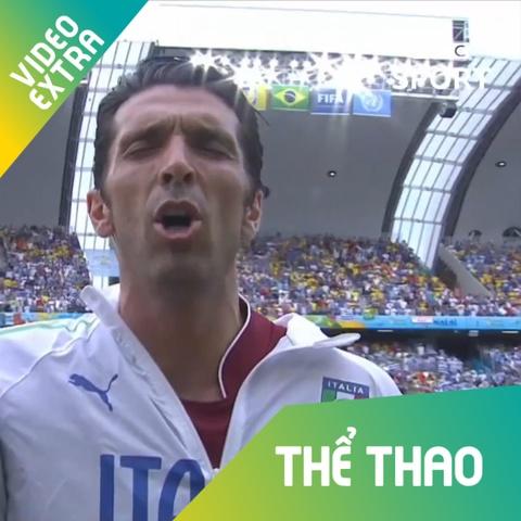 Buffon hat quoc ca cuc sung truoc khi vao tran tai World Cup 2014 hinh anh