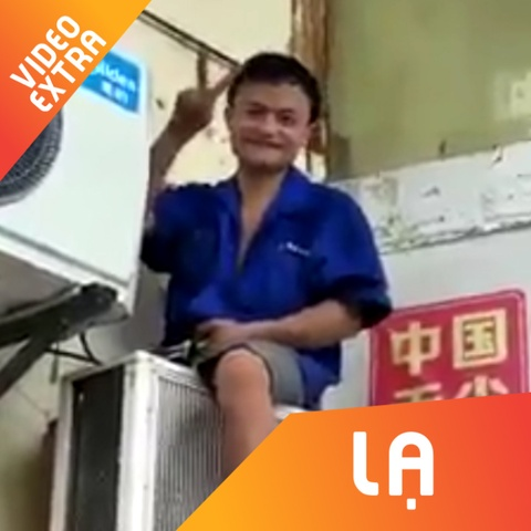 Tho sua may lanh gay chu y vi guong mat giong ty phu Jack Ma hinh anh
