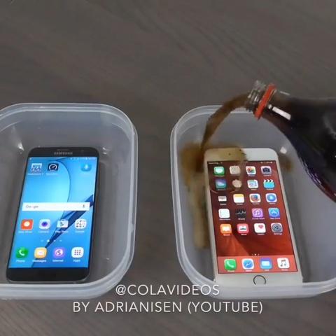 Dung Coca ngam iPhone, Samsung Galaxy roi dong thanh da thu do ben hinh anh