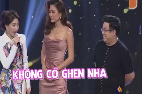 Hari Won 'ghen' khong de Mau Thuy dung gan Tran Thanh o Giong Ca Bi An hinh anh