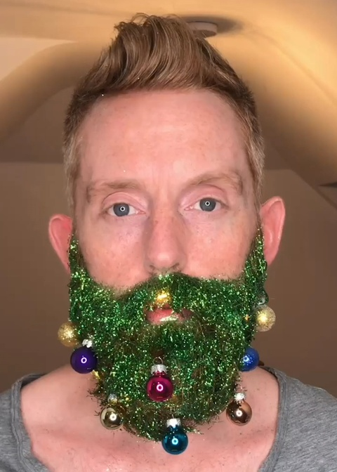 Dung rau de trang tri thanh cay thong Noel hinh anh