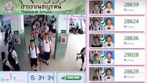 Truong trung hoc Thai Lan dung cong nghe AI de diem danh hoc sinh hinh anh