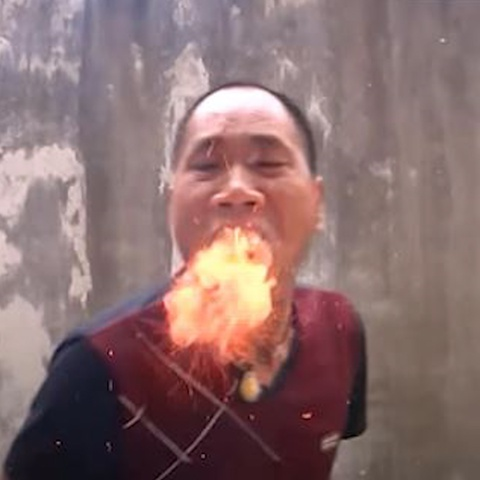 Man bieu dien tho ra lua cua vo su Trung Quoc hinh anh