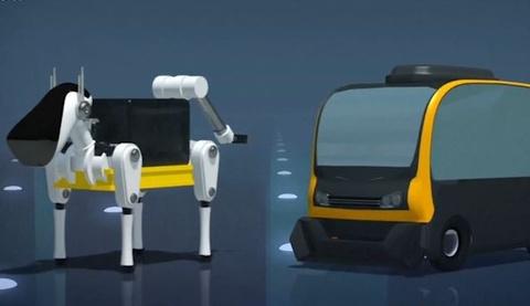 Cho robot cuoi xe tu lai lam shipper hinh anh