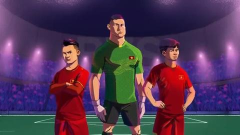 Cong Phuong cung Viet Nam tung hoanh Asian Cup qua phim hoat hinh hinh anh