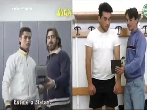VDV tai hien man so tai cua Ronaldo va Zlatan thoi con tre hinh anh