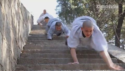 Nha su Thieu Lam trinh dien tuyet dinh kungfu tren nui hinh anh