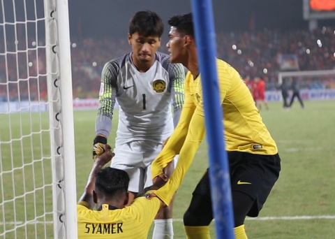 Tuyen Malaysia guc xuong san sau tran chung ket o My Dinh hinh anh