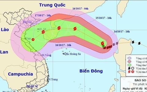 Bao so 11 co kha nang do bo vao Thanh Hoa - Quang Tri hinh anh