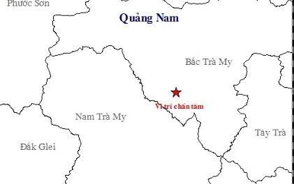 4 tran dong dat manh lien tiep o Quang Nam hinh anh