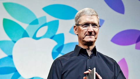 apple thoi tim cook hinh anh