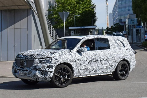Mercedes GLS 2019 lo dien tren duong chay thu hinh anh