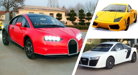 Xe nhai Bugatti Chiron, Lamborghini tran lan tai Trung Quoc hinh anh