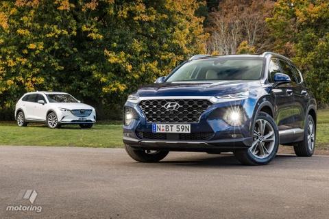 Hyundai Santa Fe danh bai Mazda CX-9? hinh anh