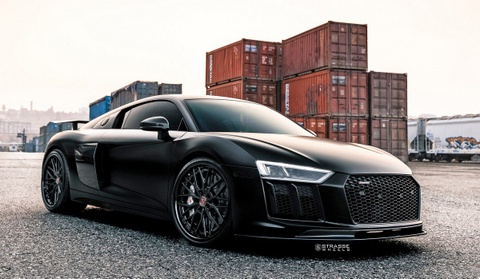 Audi R8 V10 Plus do chien dau co tang hinh hinh anh