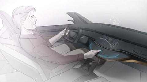 Cong nghe man hinh cam ung 3D moi cho xe hoi hinh anh