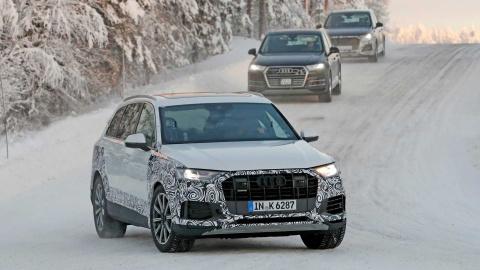Audi Q7 2020 lo dien tren duong thu, bat ngo thay doi thiet ke hinh anh