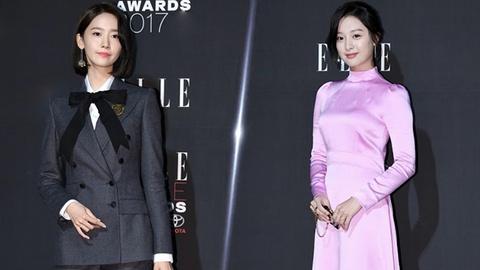 Yoona co dien, Kim Ji Won an van sen sam tren tham do thoi trang hinh anh