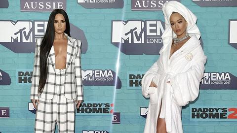 Rita Ora dien trang phuc kho hieu tai MTV EMAs 2017 hinh anh