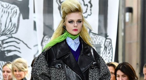 'Cong chua' Elle Fanning tro thanh vedette trong show dien Miu Miu hinh anh