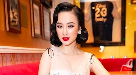 Angela Phuong Trinh lang xe mot trang diem co dien, ke may bom su tu hinh anh