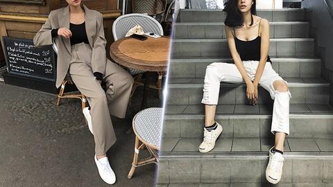 Sneakers trang co the bien hoa nhu the nao? hinh anh
