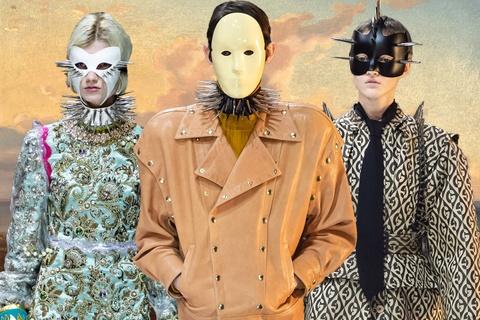 Mặt nạ trên sàn diễn Gucci ẩn chứa thông điệp sâu sắc về song tính
