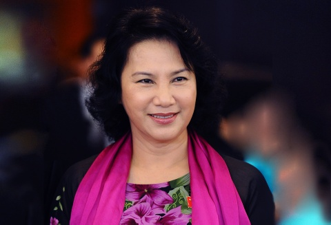 Nhung bo ao dai cua Chu tich Quoc hoi Nguyen Thi Kim Ngan hinh anh