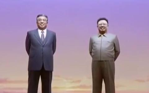 Kim Jong Un vieng lang Kumsusan hinh anh
