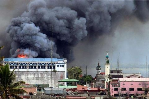Philippines tuyen bo sap giai phong Marawi hinh anh