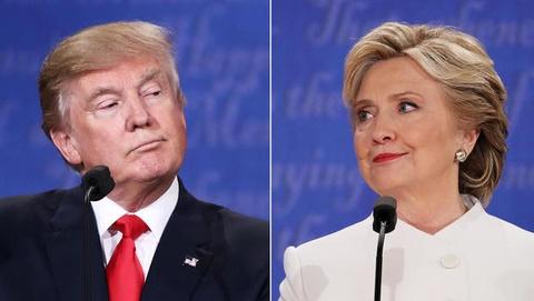 Trump - Hillary va nhung man khau chien tren truyen hinh hinh anh