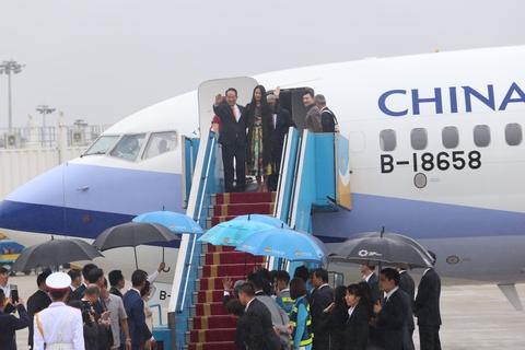 May bay cho doan Dai Bac Trung Hoa du APEC den Da Nang hinh anh 4