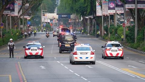 Doan xe cua Kim Jong Un vuot con duong sam uat nhat Singapore hinh anh 8